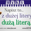 Byki językowe z dużej litery dużą literą
