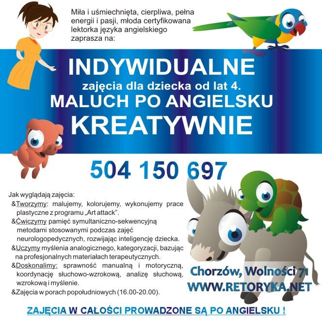 angielski dla dzieci, sląskie, Chorzów, Bytom, Świętochłowice,Bytom, Ruda Śląska, Katowice